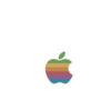 Früheres Firmenlogo von Apple Computer